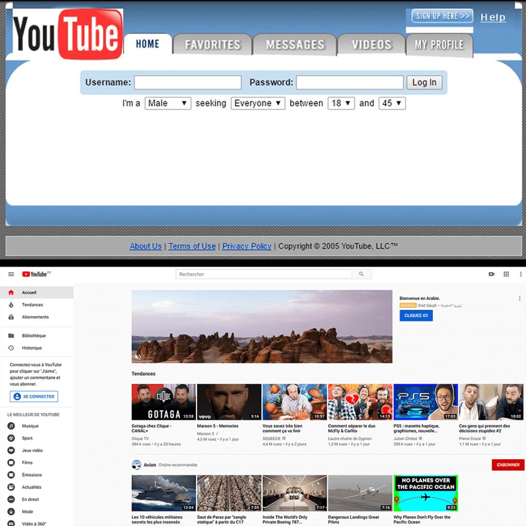 Même les sites se mettent à jour et épurent leurs interfaces