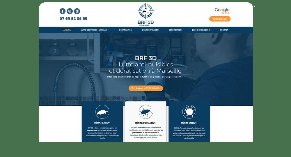 Agence communication M COM Marseille 13012 Création de site web internet et référencement publicité SEO campagne emailing brf3d