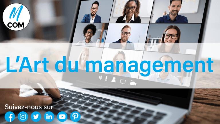 L'Art du management ; M COM ; création de sites internet ; Marseille